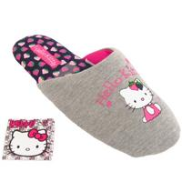 View Item LADIES GIRLS HELLO KITTY COMFORT MULES SLIPPERS SLIP-ON WOMENS SHOES SIZE 3-8